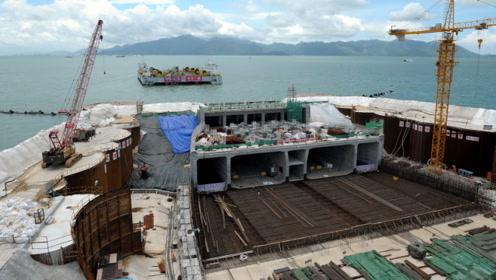 中国又建超级海底隧道,单节沉管承受11000小轿车重量,刷新记录
