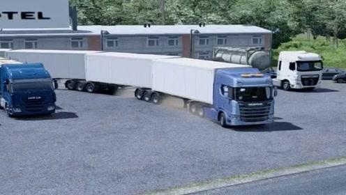 模拟驾驶:驾驶大货车跑高速,场景太真实了,货车司机不容易!