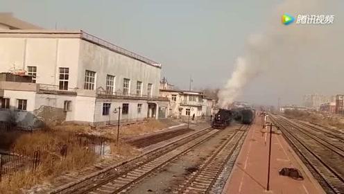 调兵山站还有这样的蒸汽火车 实拍蒸爷解挂后狂奔