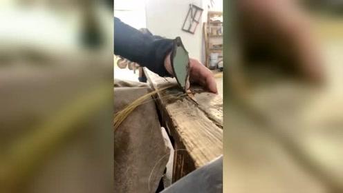 竹篾越细越不好做,看到这一幕,老一辈的手艺就是牛!