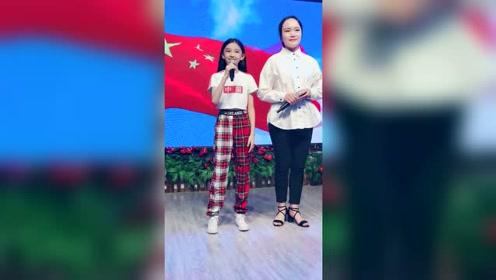 小睿和老师演唱《我和我的祖国》超赞,这才是小睿的实力,真棒