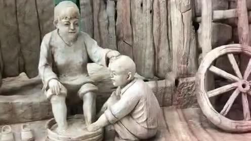 百善孝为先!这才是手艺人!雕刻的非常生动真是太厉害了
