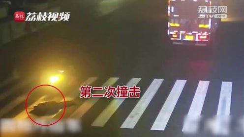 七旬老人被车撞倒在地 惨遭经过车辆多次碾压身亡 监控记录残忍全程