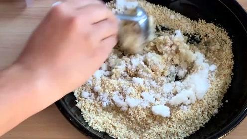 花生酥最简单的做法,配方比例都教你,酥香掉渣,老婆天天都想吃