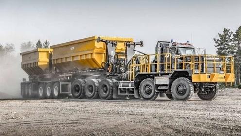 """德国制造""""变形""""矿用货车,车身360度转体,一个司机能开三辆"""