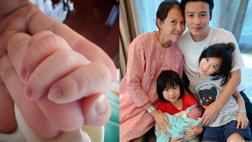 张晋发文宣布蔡少芬第三胎产子 母子平安、儿子取名张乐儿