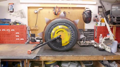 国外牛人完美还原狂鼠大招轮胎,成品威力惊人,网友:拆家神器