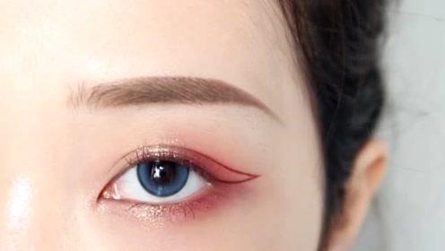 小姐姐在线教你如何画好,秋冬气质莓果眼妆