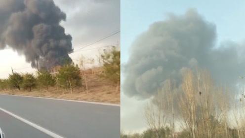 河北邢台一企业突发火灾,现场升起蘑菇云,居民:消防车都不敢进