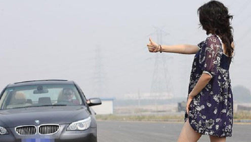 在川藏线穷游的妹子,为什么喜欢穿裙子?司机表示:方便!