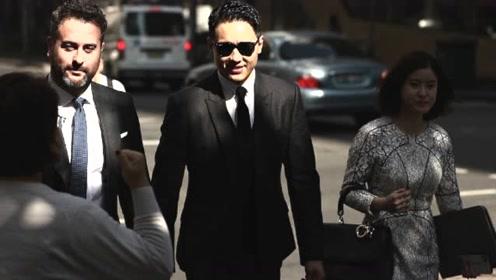 高云翔庭审第21日案件接近尾声 与律师谈笑风生一身轻松