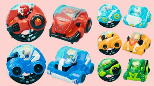 猪猪侠玩具 竞速小英雄之触碰变形翻滚车