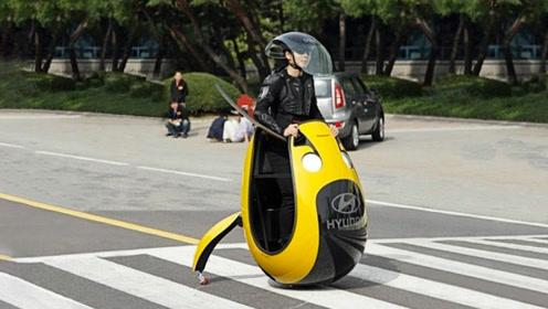 奇特的电动车,外形酷似一个大鸭蛋,小巧玲珑,深受上班族喜爱