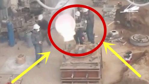 1500度铁水突然爆炸,工人们四处逃命,来得及吗?