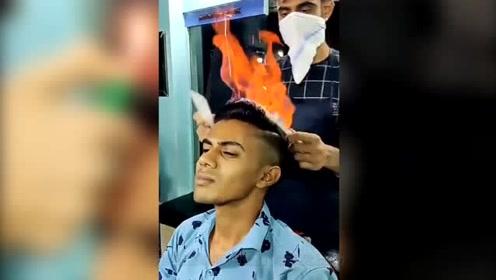 见过这样理发的吗?理发师月薪没有5万,怕是没人干!