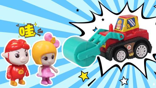 凸凸的道路,猪猪侠交通大百科知识有两个大滚轮的车?