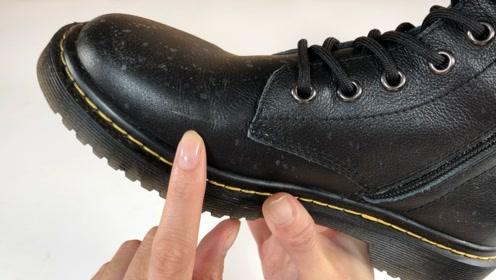 皮鞋有划痕破皮别扔,自己在家就能修复,皮鞋完好如新,不留痕