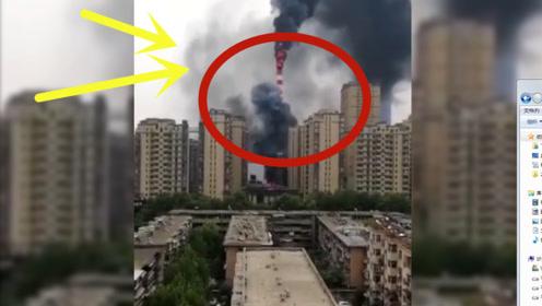 一热力公司突发大火,黑烟冲天,监控拍下可怕全程