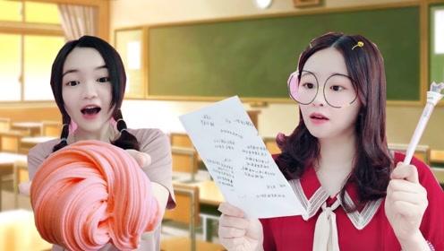 期末考前突然小测验!花甜的无硼砂史莱姆课堂,妹妹能通过考验吗?