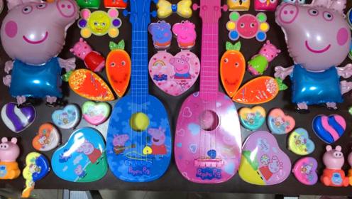 DIY史莱姆教程,吉他彩泥+爱心米粒泥+水果蔬菜水晶泥,手感Q弹超棒呢