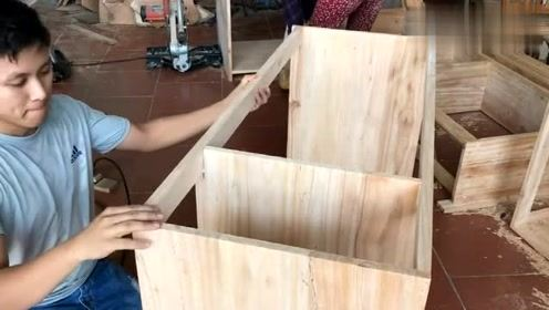 长见识了,原来我们用的实木柜就是这样造出来的!
