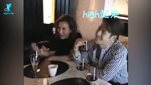 郑秀文王嘉尔私下聚餐欢乐多,边喝酒边唱歌不断摇摆氛围超嗨