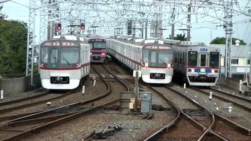 日本铁路高峰集锦,这密度运量太大了