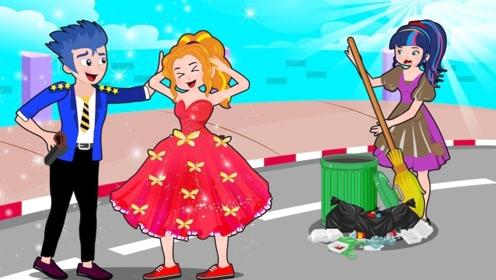小彩虹将垃圾归类做到位,可却被人抢了功劳,气得她大哭!