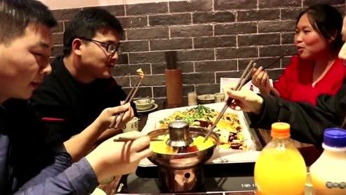 胖妹跟前男友聚餐吃饭?两男两女下馆子好尴尬,老公要酸了!