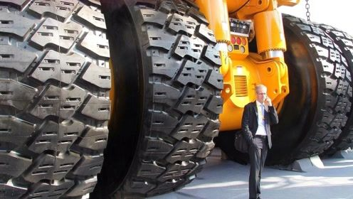 世界最大的卡车,轮胎就能买2辆路虎揽胜,搭载24缸柴油发动机