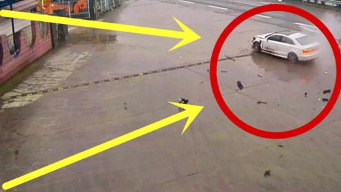 """大货车高速爆胎,服务区内""""大开杀戒"""",轿车司机惨遭团灭!"""