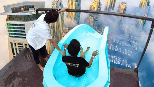 盘点国外3个超刺激水滑梯,即刺激又危险,敢玩的都是大神!
