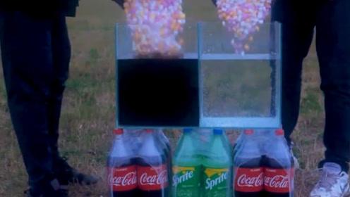 雪碧和可乐,谁才是曼妥思最佳小伙伴?反应程度给出了答案