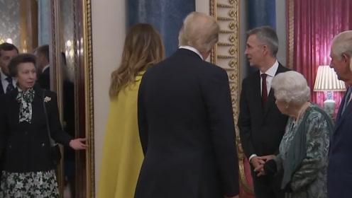 """像极了我和我妈!英女王强迫公主给特朗普打招呼被""""无礼""""拒绝"""