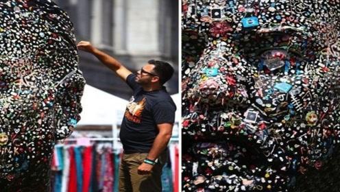 它是全世界最脏的雕塑,全身都是吃过的口香糖,虽然恶心但是意义不凡