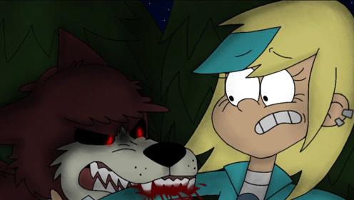 女孩在森林迷路,惨遭野狼袭击,幸好小狗出现衷心护主!