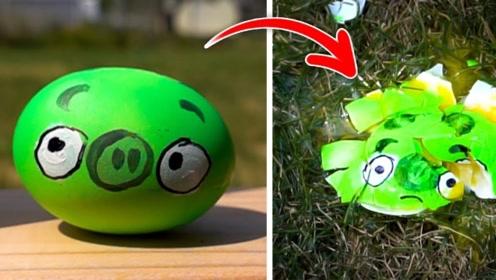 老外自制现实版愤怒的小鸟游戏,网友:这样玩才过瘾!
