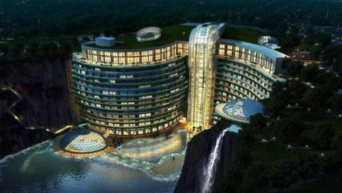 日本人在中国挖88米巨坑,中国花20亿建成酒店,获多个世界第一