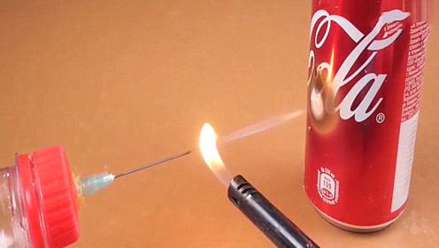 小火苗被针管吹成一根线,威力瞬间提升10倍,这是什么原因?