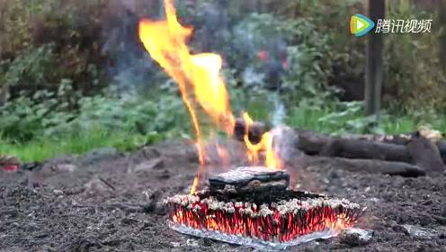 诺基亚3310放置在火柴堆上点燃会发生什么?