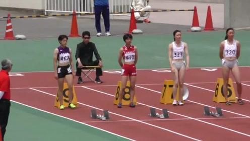 日本女高中生的100米跨栏比赛,太厉害了