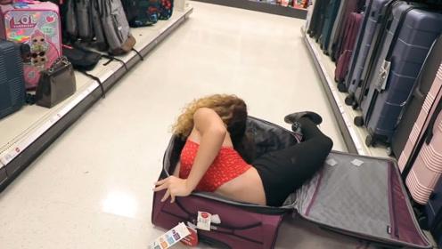 世界上最柔软的女性,可以摆出任何动作,还能把自己塞入行李箱
