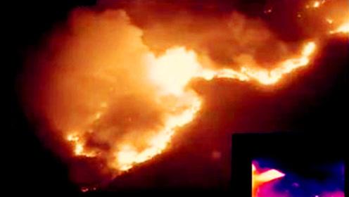 高明发生山火!红外热成像、卫星图、航拍画面曝光