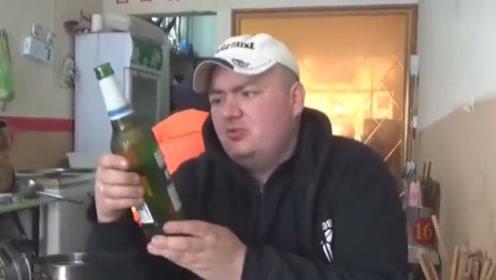 喝惯了伏特加的俄罗斯人,第一次喝中国啤酒,表情瞬间凝固了!