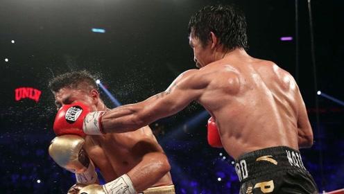 巅峰帕奎奥太可怕了!连续重拳猛如虎,美国拳王险些被打废