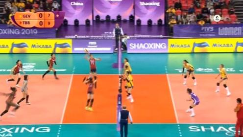 女排世俱杯七八名决赛 天津渤海银行0:3广东恒大 全场回放