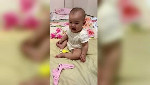 宝宝:下一声咋哭来着,把我思路都打断了!