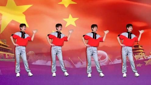 广场舞教学《中国最精彩》华夏大地洋溢醉人的色彩