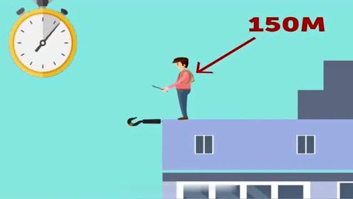 脑力测试:小王怎么做才能下楼呢?大家猜猜