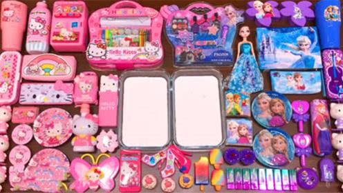 DIY史莱姆教程,粉色凯蒂猫彩泥、蝴蝶珠光泥、彩虹雪糕泥